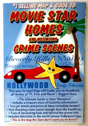 Movie Stars Homes  Notorious Crime Scenes Map  Guide  2329  eBay