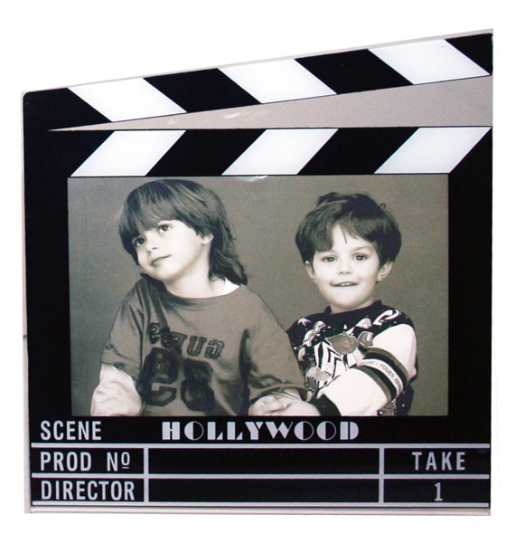 "Hollywood Acrylic Clapboard Picture Frame 5x7"" - 5421 