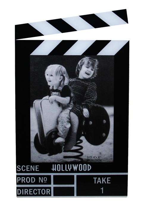 Hollywood Acrylic Clapboard Vertical Picture Frame - 4x6 ...