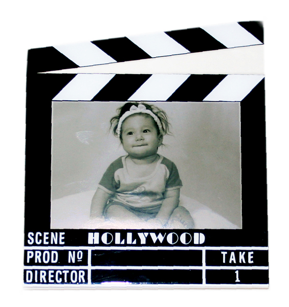 "Hollywood Acrylic Clapboard Picture Frame - 3.5x5"" - 5424 ..."