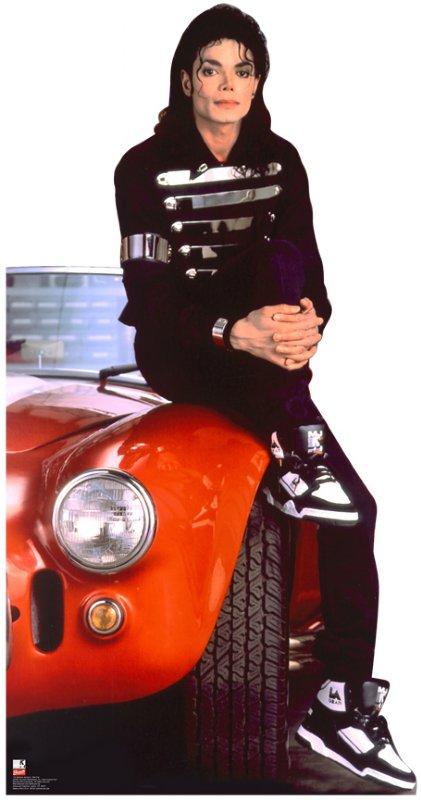 Michael Jackson Red Car Standup Cardboard Cutout 152 8116