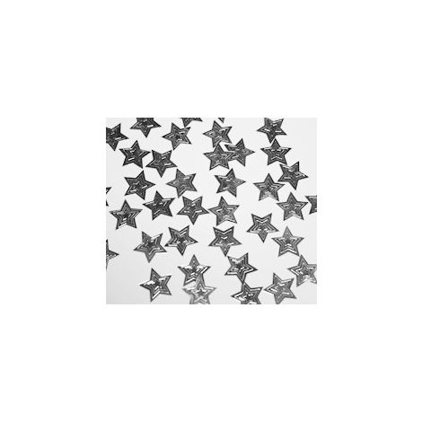 Embossed Stars Confetti - Silver