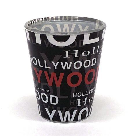 Hollywood Collage Shotglass - Black