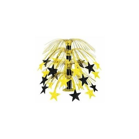 Cascading Stars Centerpiece - Black & Gold