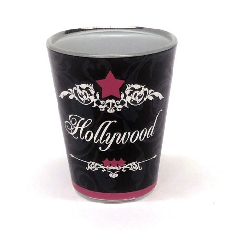 Black Hollywood Party Shot Glass