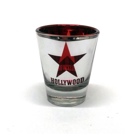 Hollywood Foil Shotglass - Red