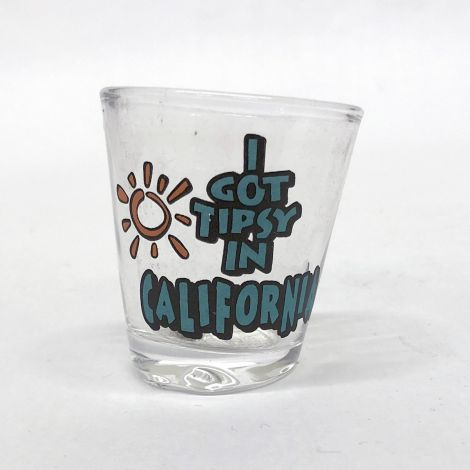 Tipsy in California Shotglass
