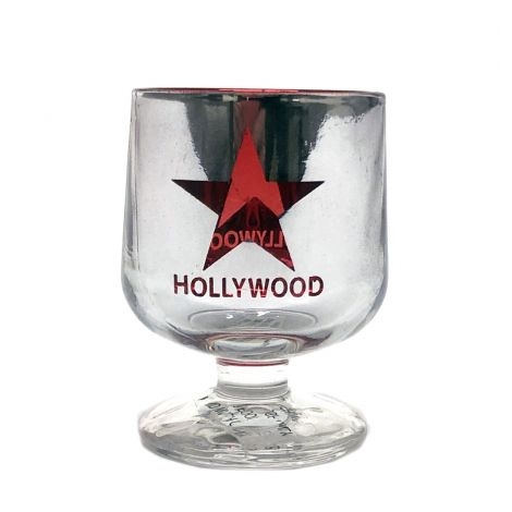 Chrome Hollywood Withe Red Star Shot Glass
