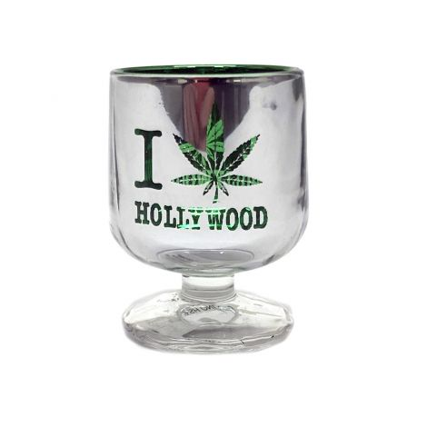 green marijuana leaf brandy snifter