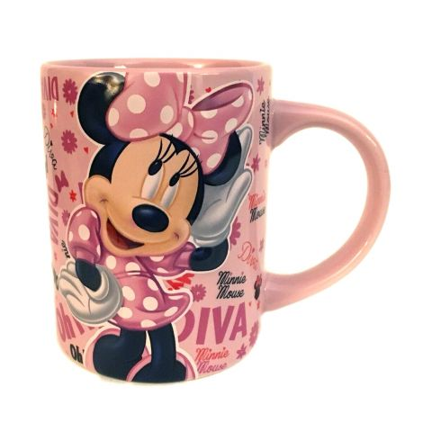 Disney Minnie Mouse Diva Mug - Embossed