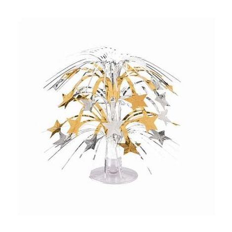 Silver and Gold Star Mini Cascade Centerpiece
