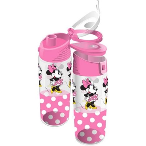 Disney Minnie Mouse Pink Polka Dot Water Bottle, 9 Inch