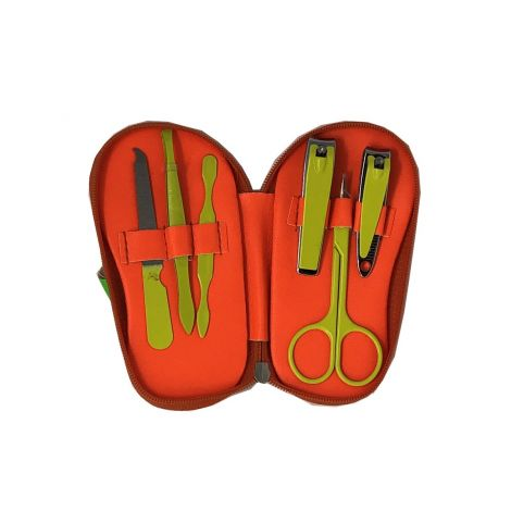 Neon Orange Flip Flop Manicure Sets