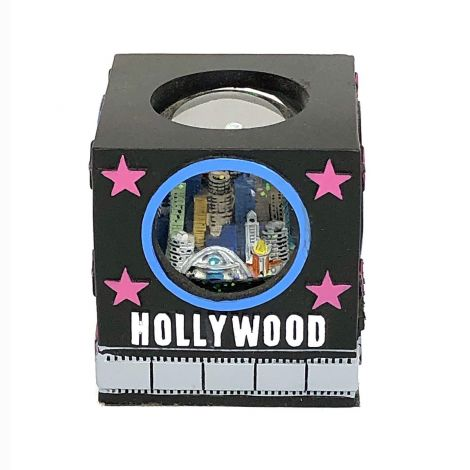 Hollywood Snow globe with Pink Stars