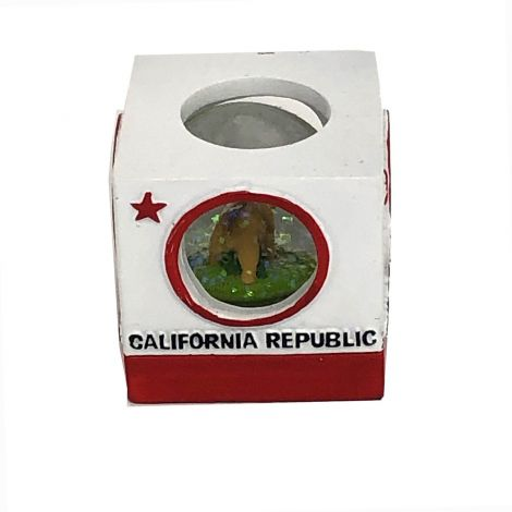 California Republic Square snow Globe