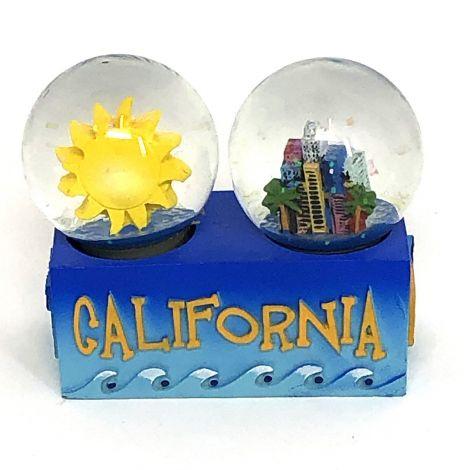 Double water globe California sun city