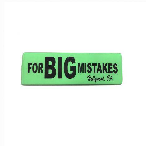 Eraser For BIG Mistake - Neon Green