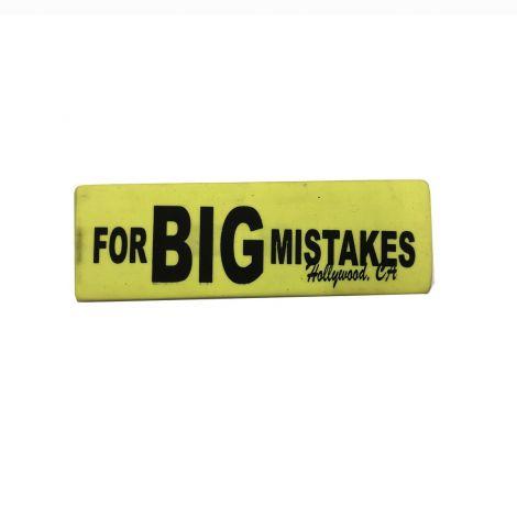 Eraser For BIG  Mistake - Neon Yello