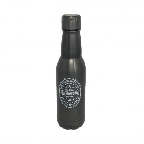 17oz Insulated Water Bottle –  Black Matte Finish