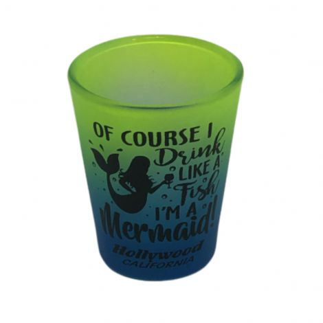 Green ombre Mermaid Shot glass