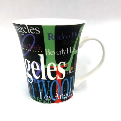 Los Angeles Colorful fonts Latte Mug