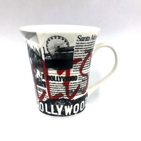 Los Angeles black and white newspaper Latte Mug