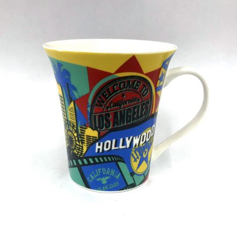 Los Angeles Colorful Latte Mug with icons
