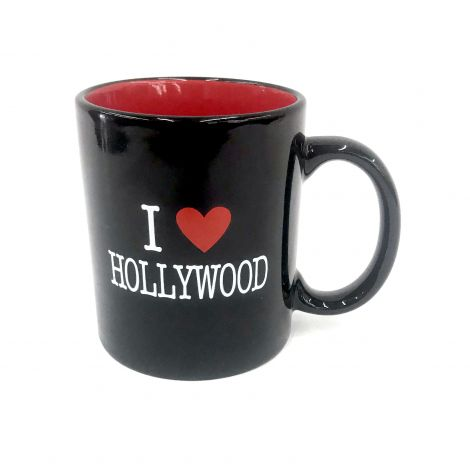 I Love Hollywood Black and Red Mug