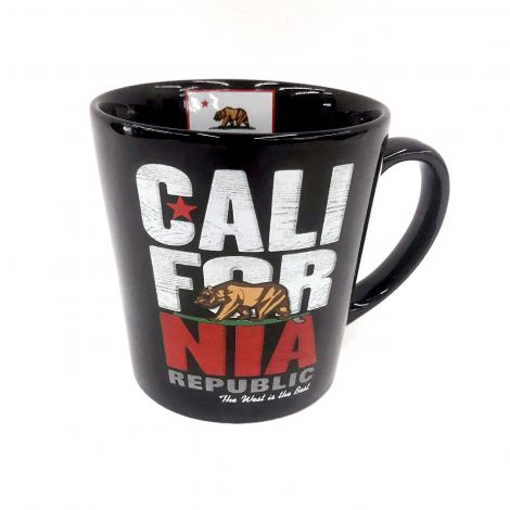 Large Black Cali-For-Nia Coffee Mug