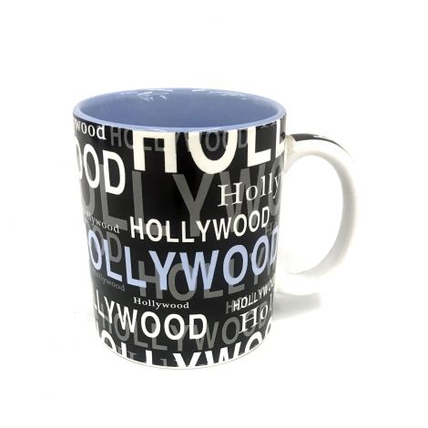 Hollywood black white and light blue Coffee Mug