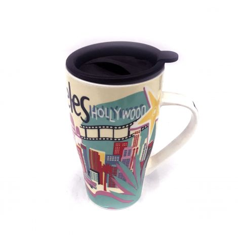 Color porcelain travel mug