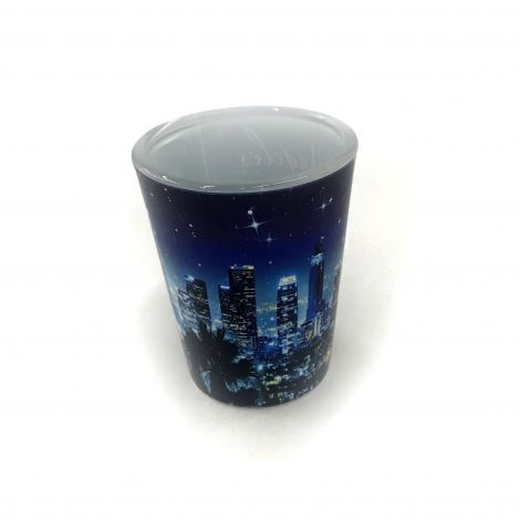Los Angeles night city scenery Shot Glass