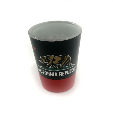 California Republic Black and Red Shot Glass