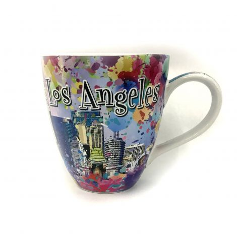 Big Color Los Angeles graffiti with Downtown buildings Coffee Mug