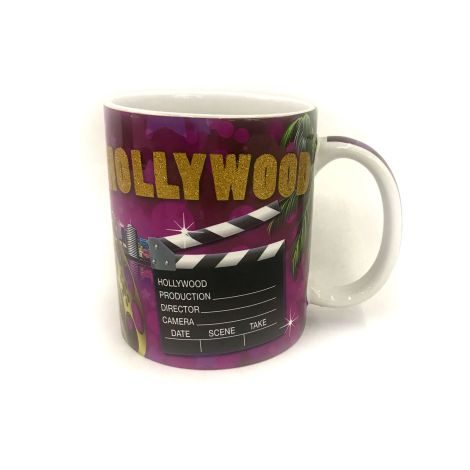 Hollywood Home of the stars with Hollywood icons Coffee mug