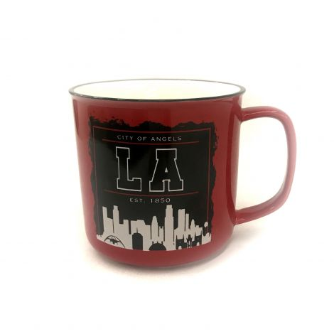 City of LA Est, 1850 Los Angeles Red Mug Coffee Mug