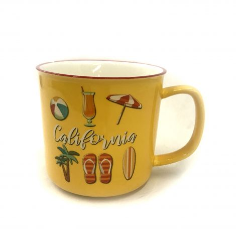 Yellow California Coffee Mug