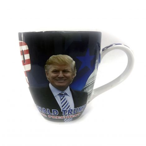 "Big 45th President Donald Trump ""Make America Great Again"" Coffee Mug"