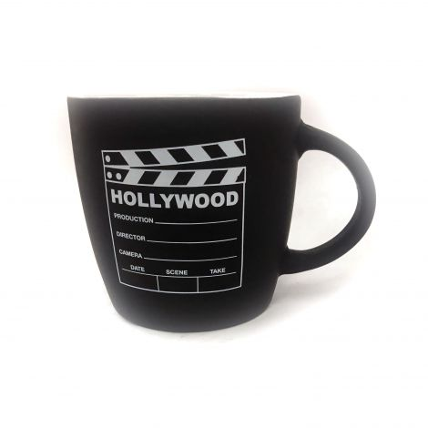 Black Large Matte clapboard Coffee Mug
