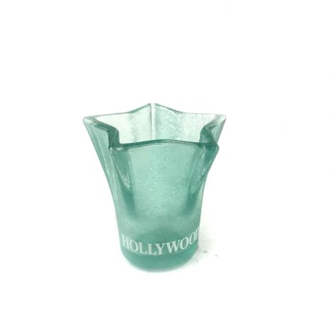 Hollywood Frosted Neon Green star shape shot glass