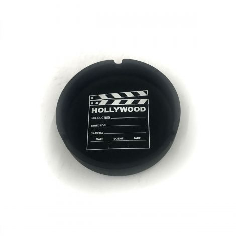 Hollywood Clapboard Black Matte Finish Ashtray