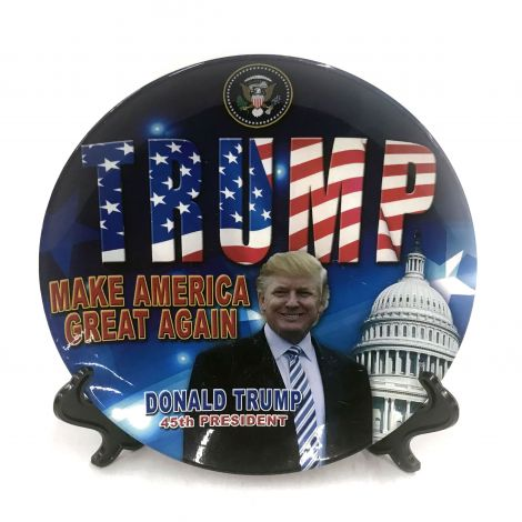 "45th President Donald Trump ""Make America Great Again"" Decorative Plate"