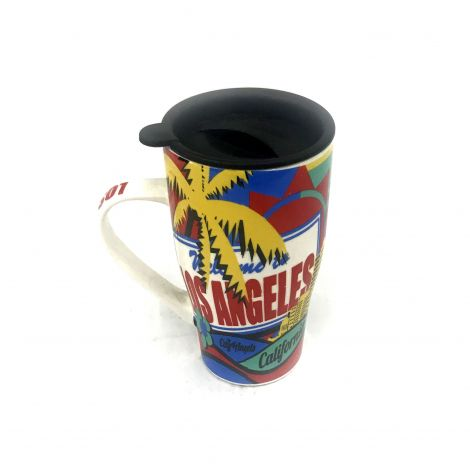 Color Los Angeles porcelain travel mug