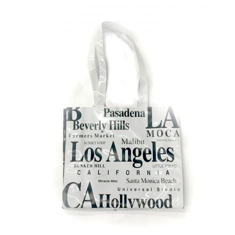 Los Angeles glossy White Shoulder Bag PVC/Vinyl  Bag