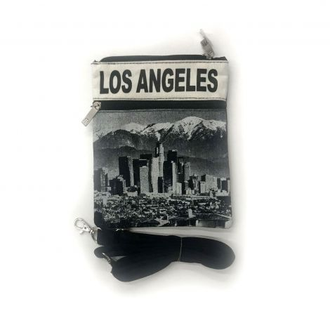 Black & White Los Angeles Neck Wallet