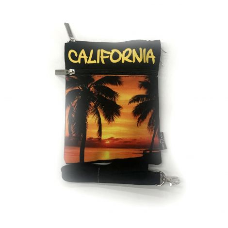 California Sunset Neck Wallet