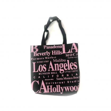 Los Angeles Pink Writing With Landmarks In La Tote Bag