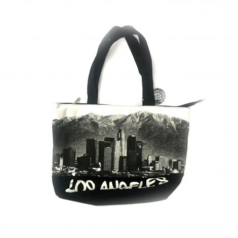 Black & White Los Angeles Tote Bag