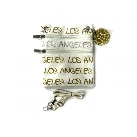 White Los Angeles Neck Wallet