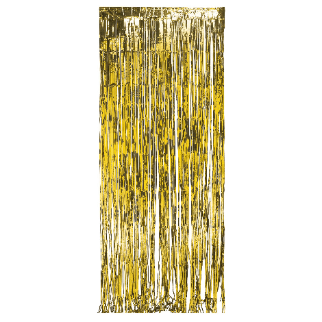 Sparkling Gold Metallic Foil Fringe Door Curtain